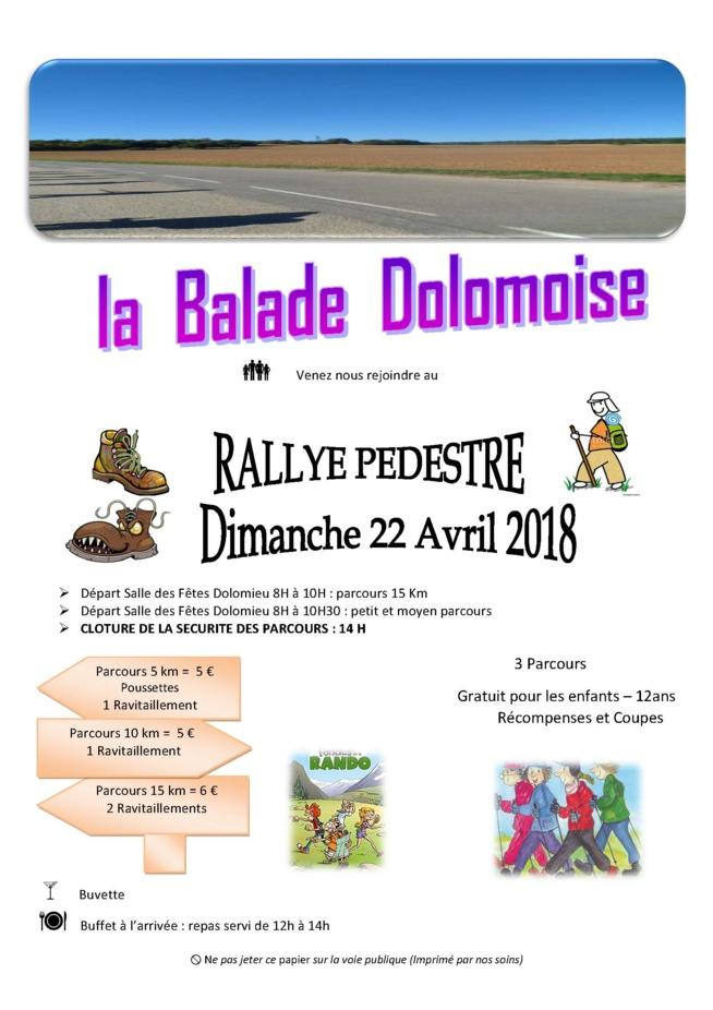 La Balade Dolomoise : RALLYE PEDESTRE  dimanche 22 avril 2018