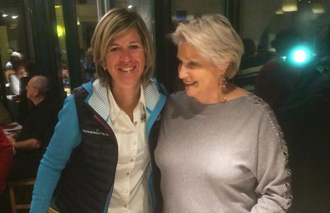 Anne-Sophie Mellado (Savoie Mont-Blanc Tourisme) et Evelyne Buffet (club Sport Santé dels Albera dans les Pyrénées orientales)